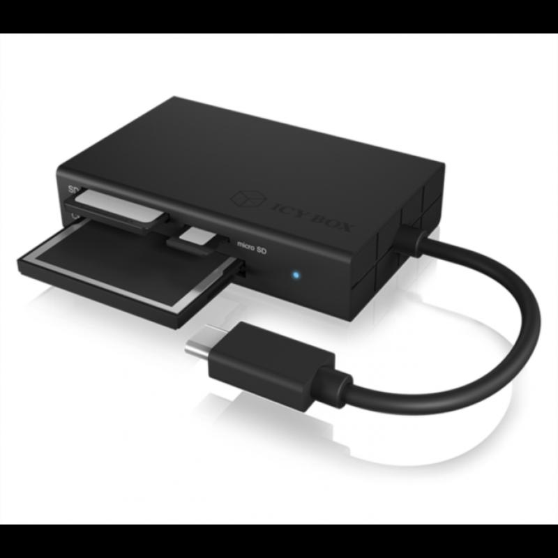 Icybox USB 3.0 Type-C zunanji čitalnik kartic