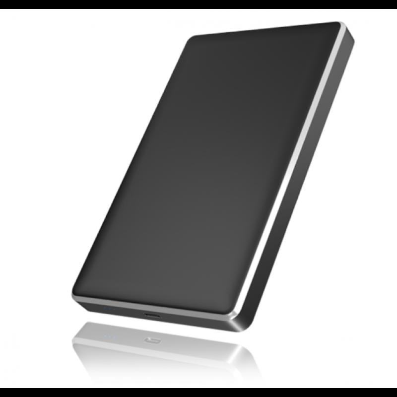 """Icybox IB-245-C31-B zunanje ohišje, 2.5"""" SATA, USB-C, aluminijasto"""