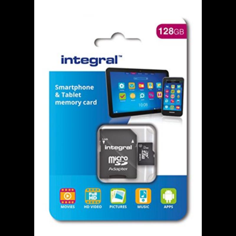 INTEGRAL 128GB SMARTPHONE & TABLET MICRO SDXC class10 UHS-I U1 80MB/s SPOMINSKA KARTICA+ SD ADAPTER