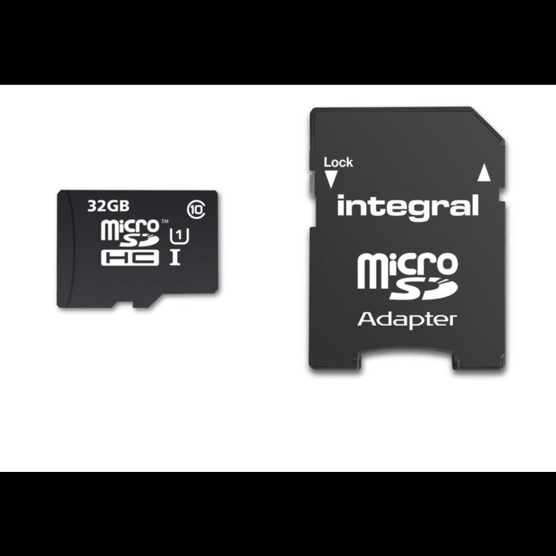 INTEGRAL 32GB SMARTPHONE & TABLET MICRO SDHC class10 UHS-I U1 90MB/s SPOMINSKA KARTICA+ SD ADAPTER