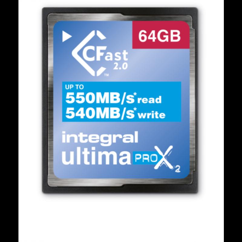 INTEGRAL 64GB ULTIMAPRO X2 CFAST 2.0
