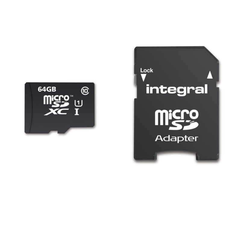 INTEGRAL 64GB SMARTPHONE & TABLET MICRO SDXC class10 UHS-I U1 90MB/s SPOMINSKA KARTICA+ SD ADAPTER
