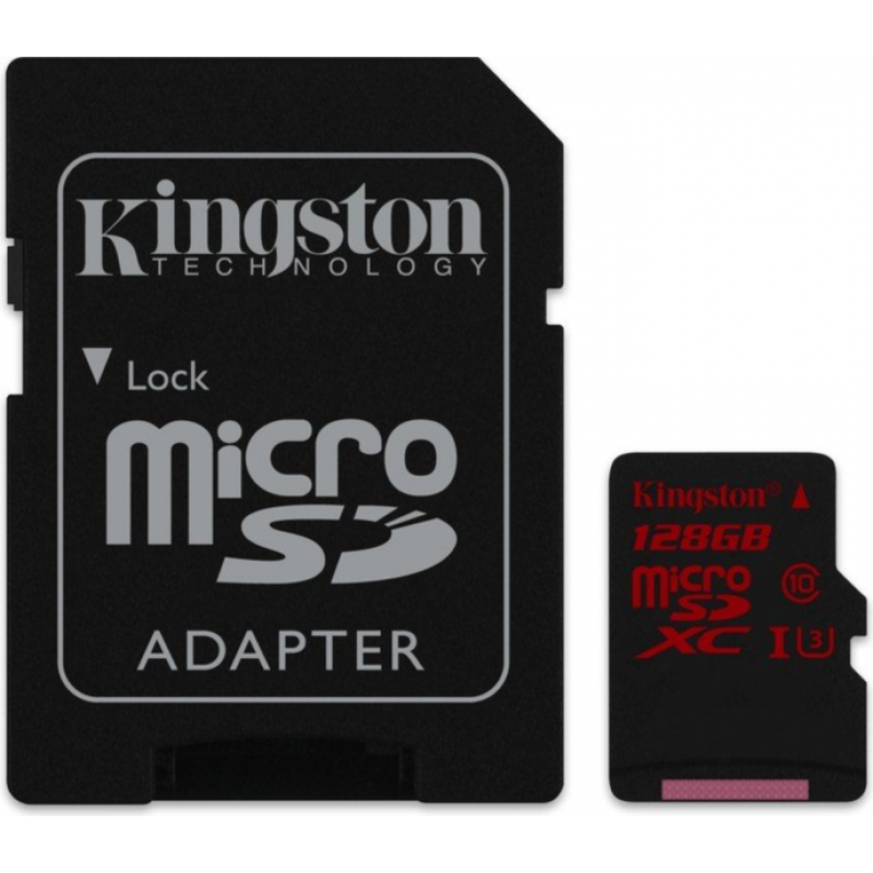 KINGSTON 128GB MICRO SDXC UHS-I U3 90/80MB/s SPOMINSKA KARTICA+ SD ADAPTER