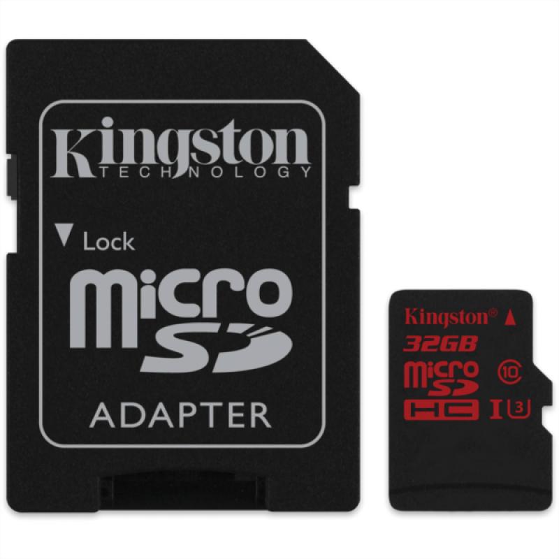 KINGSTON 32GB MICRO SDHC UHS-I U3 90/80MB/s SPOMINSKA KARTICA+ SD ADAPTER