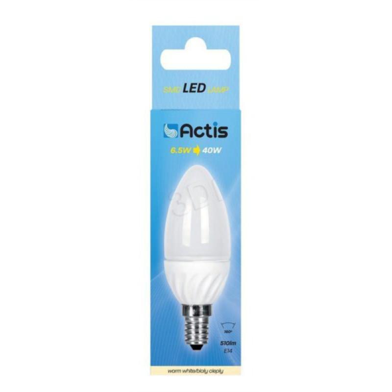 Actis LED E14 6,5W  topla, svečka