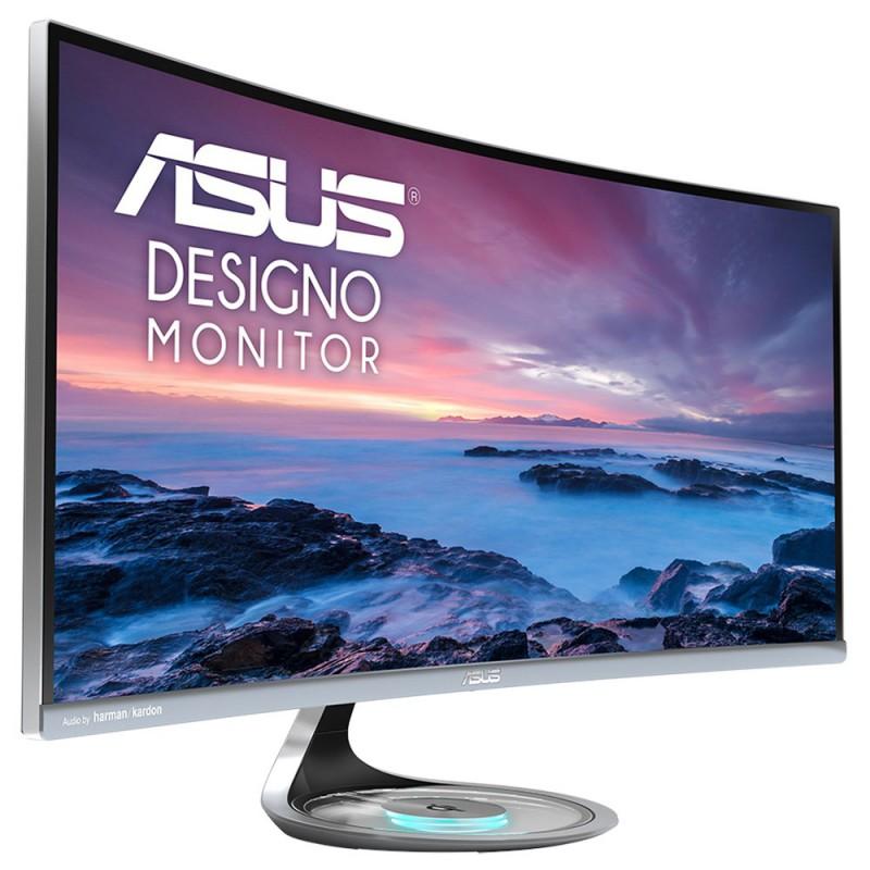 ASUS MX34VQ 34'' UQHD 100Hz ukrivljen monitor, 3440 x 1440, 4ms, DisplayPort, 2x8W Stereo RMS