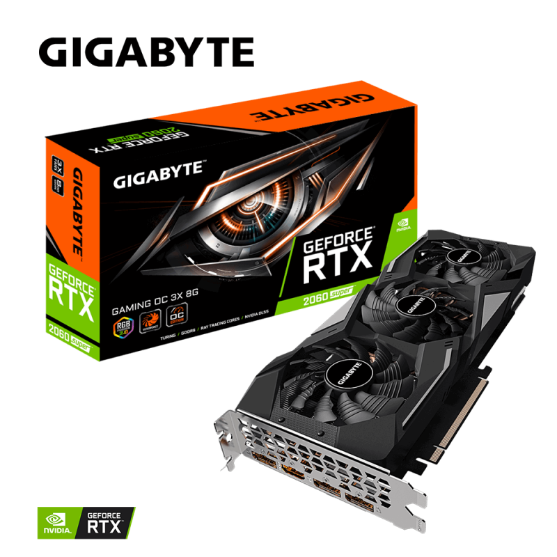 Grafična kartica GIGABYTE GeForce RTX 2060 SUPER Gaming OC 3X 8G, 8GB GDDR6, PCI-E 3.0