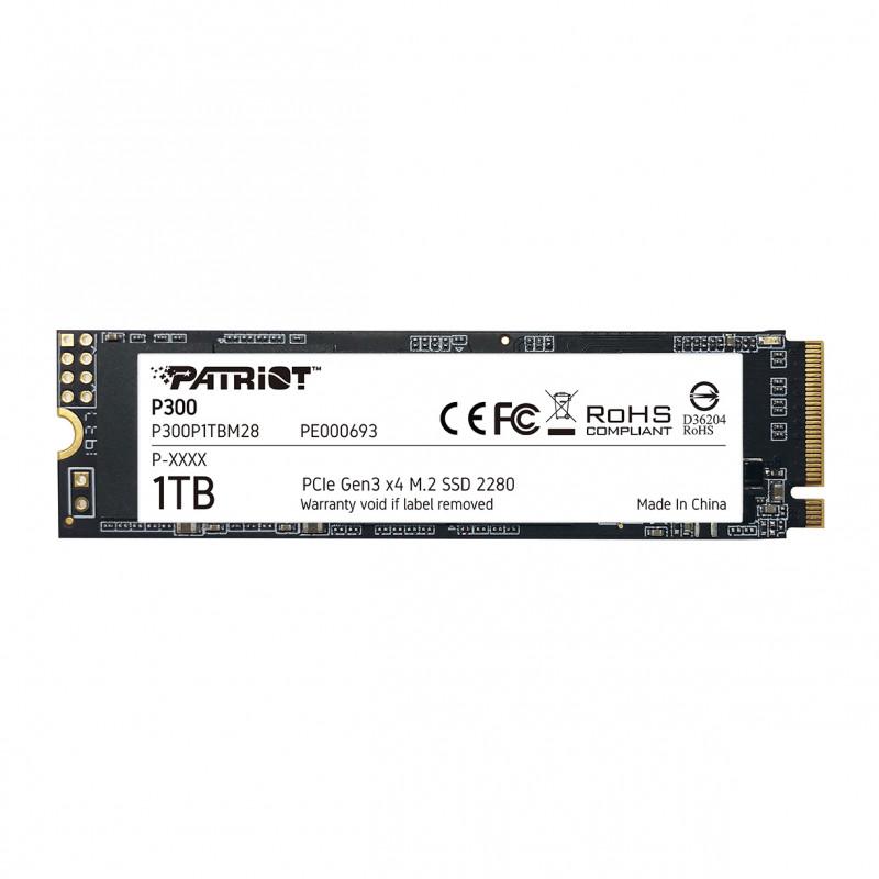 Patriot P300 1TB M.2 NVMe SSD PCIe Gen 3 x4