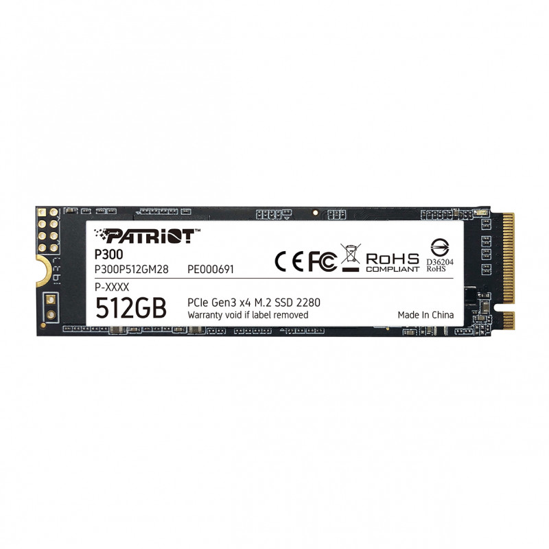 Patriot P300 512GB M.2 NVMe SSD PCIe Gen 3 x4