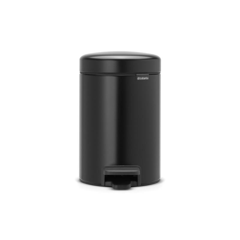 Brabantia NewIcon koš za smeti 3L mat črn