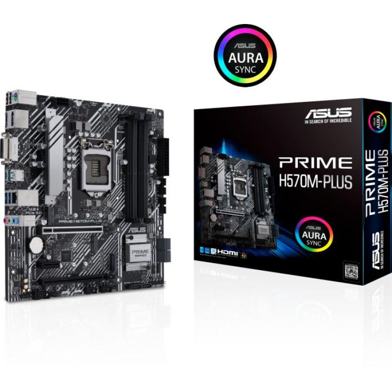 ASUS PRIME H570M-PLUS, DDR4, SATA3, USB3.2Gen2, DP, LGA1200 mATX