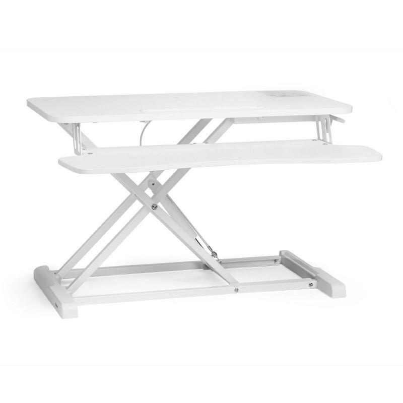 VonHaus Sit/Stand delovna platforma bela