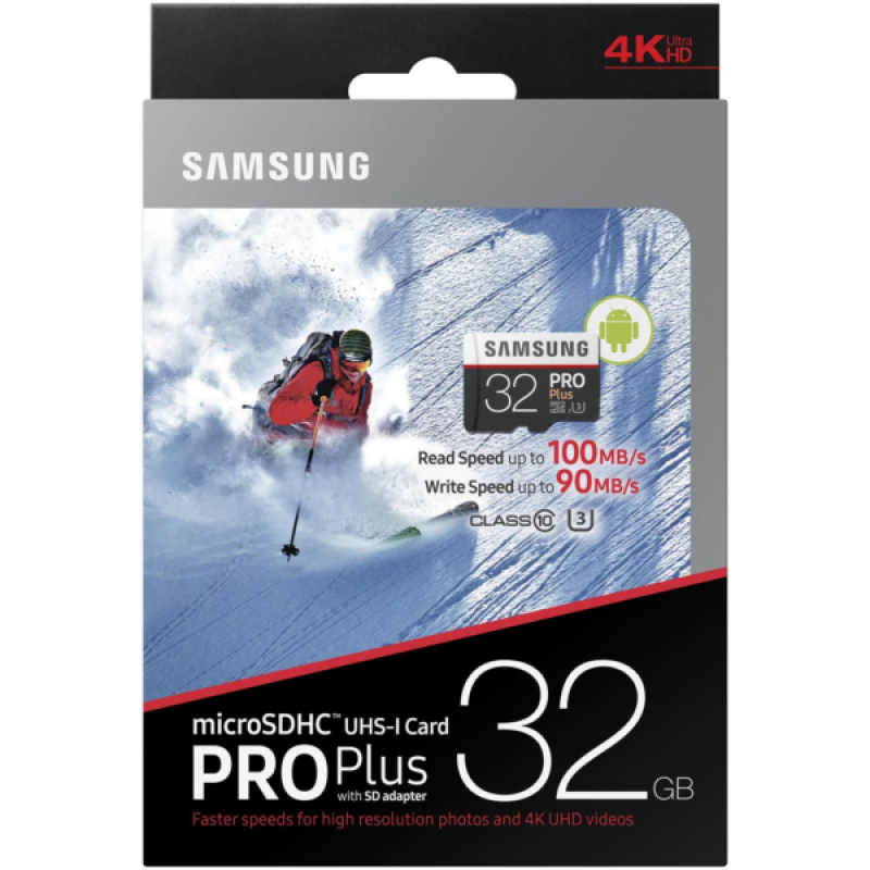 Samsung 32GB PRO+ MICRO SDHC class10 U3 4K UltraHD 100MB/s SPOMINSKA KARTICA+ SD ADAPTER