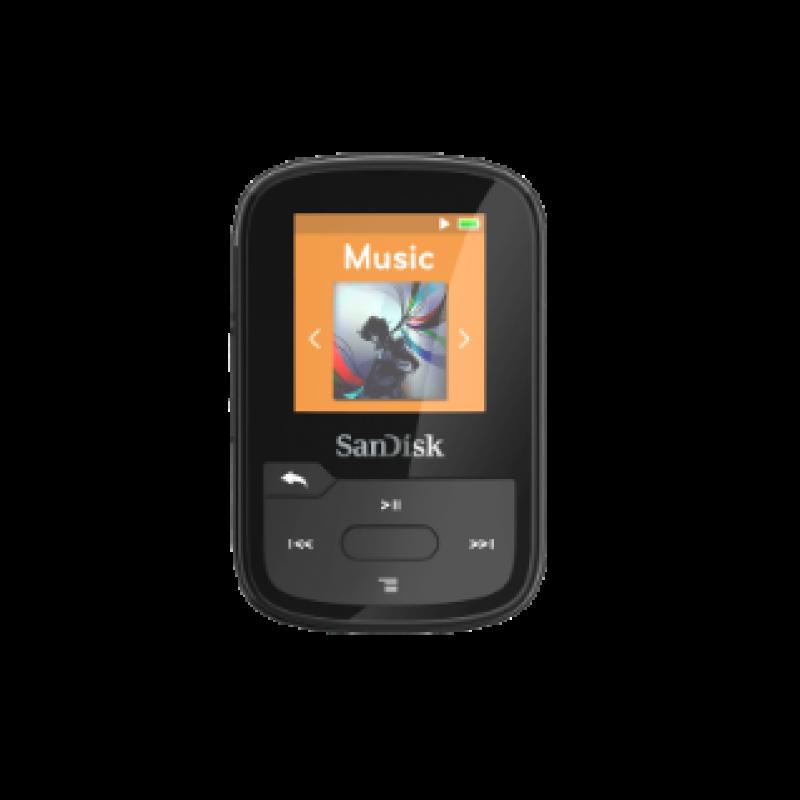 SanDisk Clip Sport Plus MP3 player 16gb črna barva