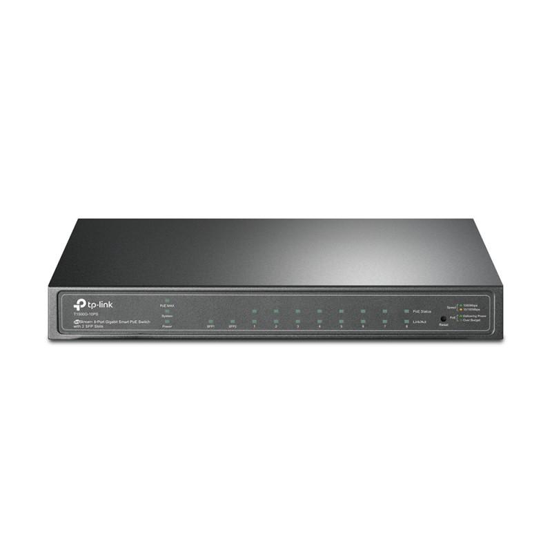 TP-LINK JetStream T1500G-10PS (TL-SG2210P), Gigabit stikalo, 10/100/1000 Mbps, PoE, 8-port