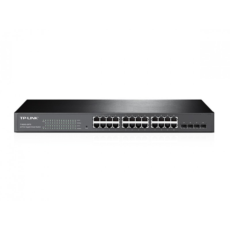 TP-Link JetStream T1600G-28TS (TL-SG2424) 24-Port Gigabit Smart Stikalo z 4  ×SFP Slot