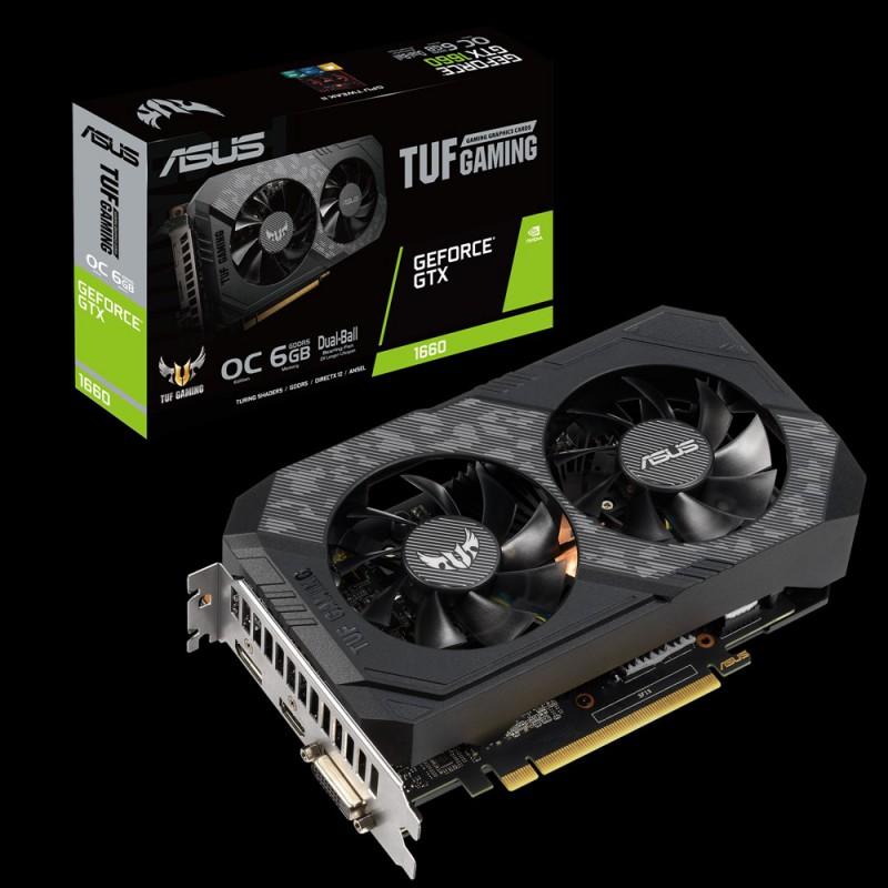 Grafična kartica ASUS GeForce GTX 1660 OC TUF GAMING, 6GB GDDR5, PCI-E 3.0