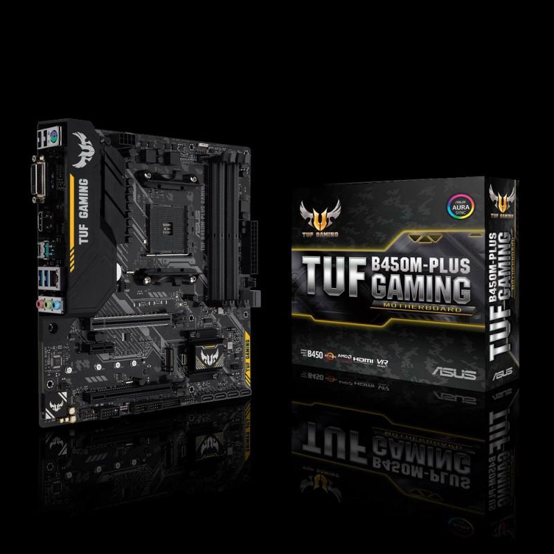 ASUS TUF B450M-PLUS GAMING, DDR4, SATA3, USB3.1Gen2, HDMI, AM4 mATX