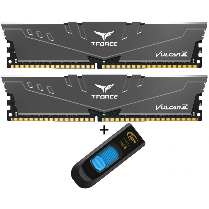 Teamgroup Vulcan Z 16GB Kit (2x8GB) DDR4-3200 DIMM PC4-25600 CL16, 1.35V + 16GB C145 USB 3.0 ključek - Promocija