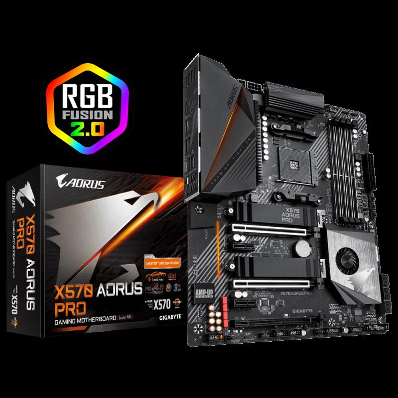 GIGABYTE X570 AORUS PRO, DDR4, SATA3, USB3.2Gen2, AM4 ATX