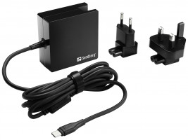 """Sandberg univerzalni napajalnik USB-C 65W s """"Power delivery"""" funkcijo"""