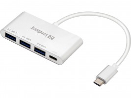 Sandberg USB-C v 3xUSB 3.0 Hub + Power Delivery