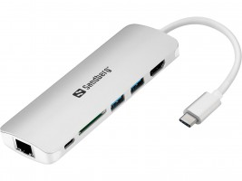 Sandberg USB-C Dock HDMI + LAN + SD + USB, 61W