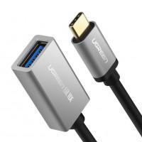 Ugreen USB C na USB A OTG srebrn