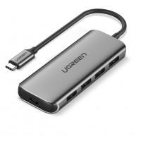 Ugreen USB 3.0 4 Ports Hub srebrn