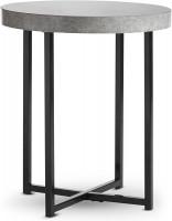 VonHaus stranska mizica z imitacijo betona 48 x 48 x 56cm