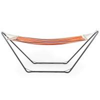 VonHaus viseča mreža z okvirjem oranžna