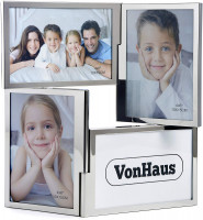 VonHaus foto okvir za 4 slike 10x15cm srebrn
