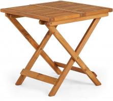 VonHaus zložljiva lesena mizica 50 x 50 x 50cm
