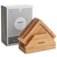 VonShef set 4 desk sestavljanka iz bambusa