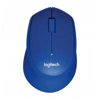 Logitech M330 Silent Plus brezžična miška, modra