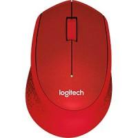 Logitech M330 Silent Plus brezžična miška, rdeča