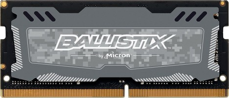 Crucial Ballistix Sport LT 8GB DDR4-2666 SODIMM PC4-21300 CL16, 1.2V Single Ranked