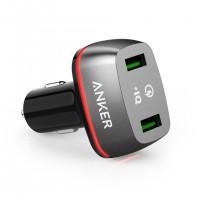 Anker PowerDrive+ 2 42W QC 3.0 avto-polnilec črn