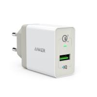 Anker PowerPort+ 1 QC 3.0 stenski polnilec + 0,9m MicroUSB kabel bel