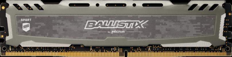 Crucial Ballistix Sport LT Gray 16GB DDR4-3200 UDIMM PC4-25600 CL16, 1.35V