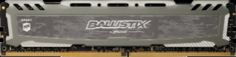 Crucial Ballistix Sport LT Gray 8GB DDR4-3000 UDIMM 1.2V
