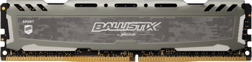 Crucial Ballistix Sport LT Gray 8GB DDR4-3200 UDIMM PC4-25600 CL16, 1.35V