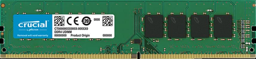 Crucial 8GB DDR4-2666 UDIMM PC4-21300 CL19, 1.2V