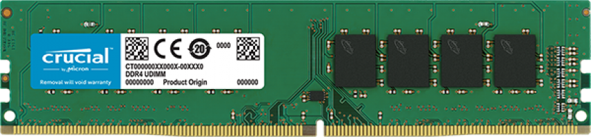 Crucial 8GB DDR4-2400 UDIMM PC4-19200 CL17, 1.2V