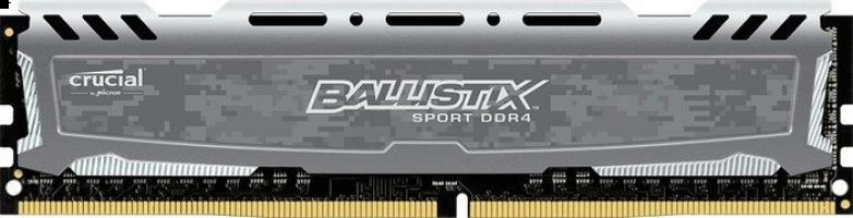 Crucial Ballistix Sport LT Gray 16GB DDR4-2666 UDIMM PC4-21300 CL16, 1.2V