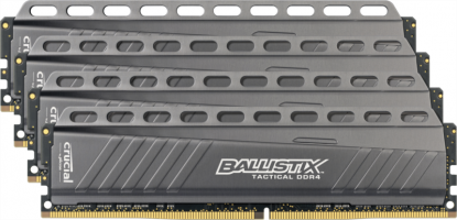 Crucial Ballistix Tactical 32GB Kit (8GBx4) DDR4-2666 UDIMM PC4- 21300 CL16, 1.2V