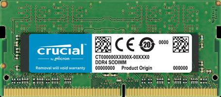 Crucial 16GB DDR4-2400 SODIMM PC4-19200 CL17, 1.2V