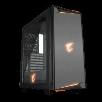 Gigabyte AC300W REV2 USB-C ATX AORUS RGB osvetljeno ohišje, črno