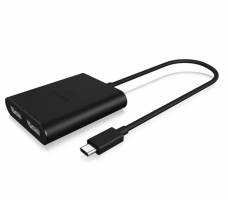 Icybox dvojni adapter iz USB-C na DisplayPort s podporo za 4k@30Hz