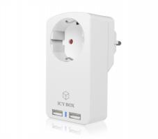 Icybox IB-CH204 vtičnica za 2 USB polnilnika